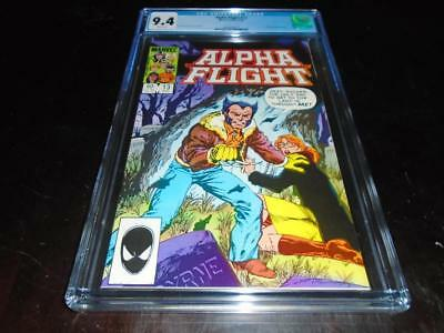 Alpha Flight #13 Cgc 9.4 White Pages Wolverine