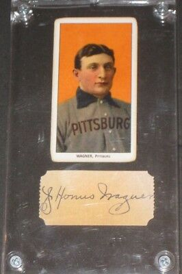 1909 T206 HONUS WAGNER Piedmont Baseball Card w/ Signed Cut READ LISTING