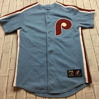 VTG MAJESTIC COOPERSTOWN COLLECTION Philadelphia PHILLIES Chase Utley Jersey S