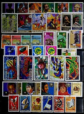 Guinea, Africa: 1970's Stamp Collection