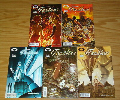Feather #1-5 VF/NM complete series - steve uy - image comics 2 3 4 set lot