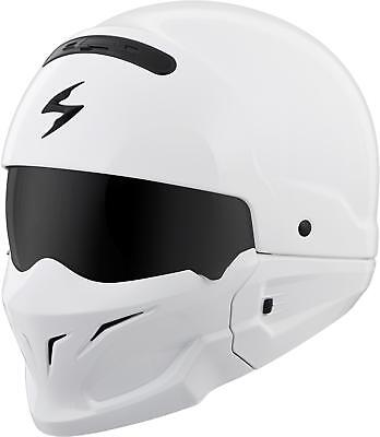 Scorpion Covert Open-Face Solid Helmet Gloss White X Cov-0206