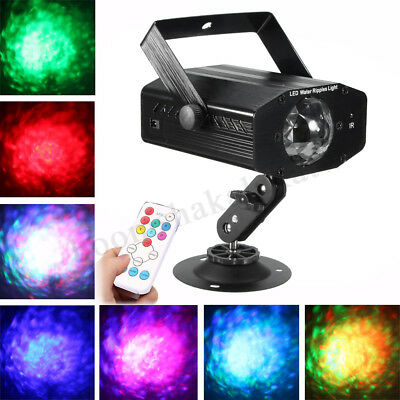 LED Water Wave Effect Laser Projector Stage Light DJ KTV Disco Party Lamp Remote
