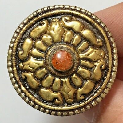 INTACT MEDIEVAL SILVER RING WITH RARE MIX STONES 26.1gr 36.3mm (inner 20mm)
