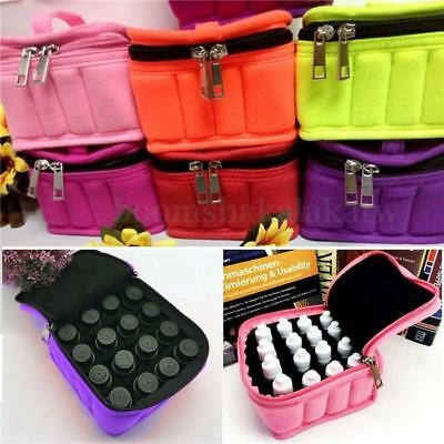 16 Bottles Essential Oil Case Travel Carry Storage Aromatherapy Zipper Bag YO