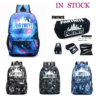 Adults Teenager Fortnite Battle Royale Backpack Rucksack School Bag GLOW IN DARK