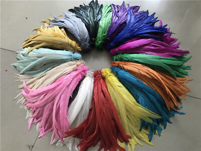 Wholesale! 10-100 pcs rooster tail feathers 10-16 inches/25-40cm 17 colors