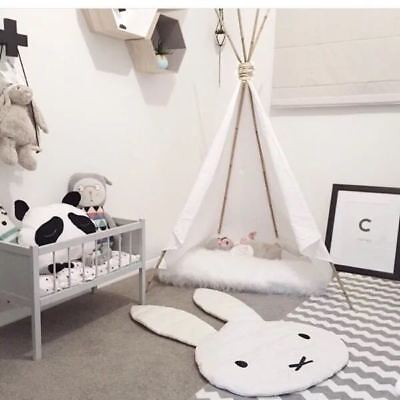 Fashion Kids Children Miffy Rabbit Bunny Carpet  Play Mat Floor Rug 106*68CM