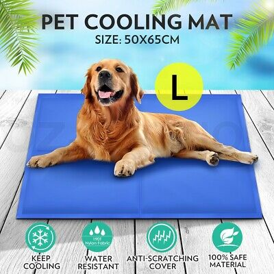 50x65cm Pet Cooling Bed Gel Mat Non-Toxic Cool Pad Dog Cat Puppy Cold Summer