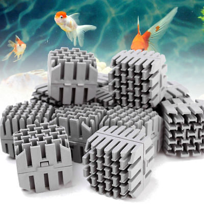 35mm Fish Tank Pond Aquarium Biological Sponge Bio Ball Brick Filter Media GOT
