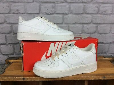 Nike Uk 5.5 Eu 38. Summit White Air Force 1 Lv8 Low Leather Trainers Boys Ladies