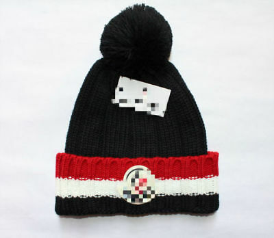 Moncler Women's Mens Warm Winter Knit Beanie Hat Crochet Ski Cap With Logo