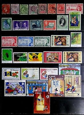 St. Vincent, British: Classic Era To 80's Stamp Collection With Sets Many Unused