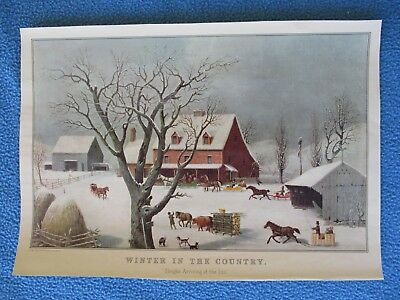 """Currier & Ives Print - """"Winter In The Country"""" - SEE MY MANY C&I PRINTS + MORE"""