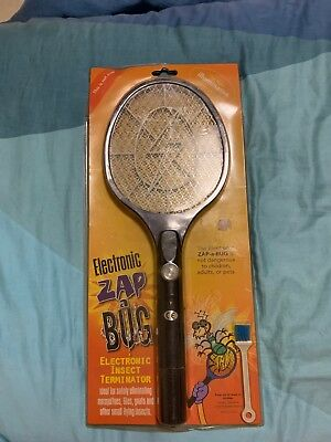 Electronic Zapper Racket Fly Swatter Mosquito Bug Insect Kill Blue Colour