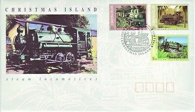 Christmas Is. - Steam Locomotives (PO FDC) 1994