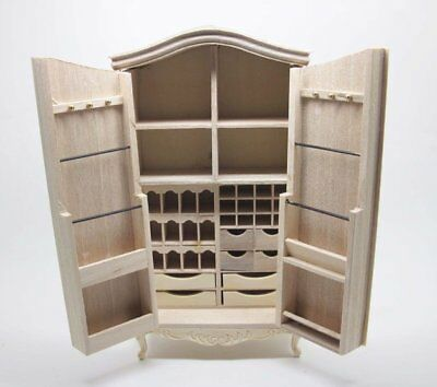 Vilia 112 Dollhouse Unfinished Notions Armoire Armadio A