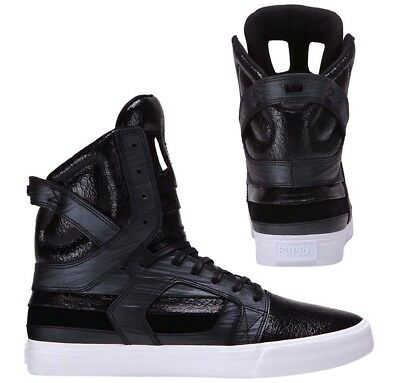 Supra Skytop II High Top Lace Up Mens Trainers Casual Black 08008 033 Q1