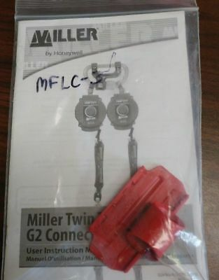 Twin Turbo™ D-Pad Connector Clip, Red HONEYWELL MILLER MFLC-3/, NEW in PACK