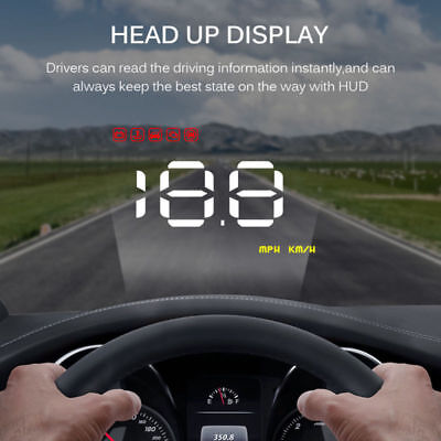 Universal Auto GPS HUD A1000 Head Up Display MPH KM/H Geschwindigkeitswarnsystem