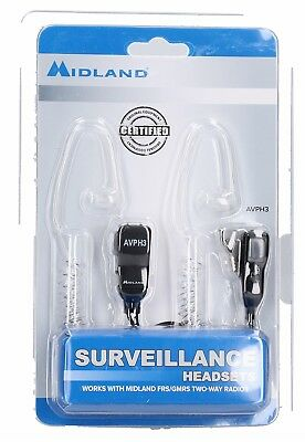 Midland AVPH3 Transparent Security Headsets with PTT//VOX