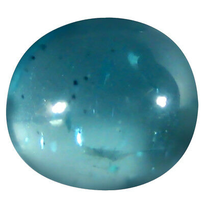 1.43 ct AAA Superior Oval Cabochon (7 x 6 mm) Brazilian Paraiba Blue Apatite
