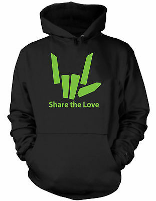 Share the Love Lime Green Stephen Sharer Black Hoodie S M L XL Youth Only New