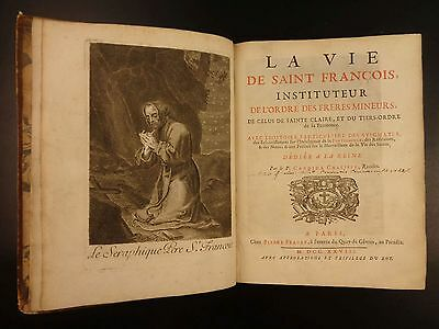 1728 RARE Life & Legends of Saint Francis of Assisi by Candide Chalippe Miracles