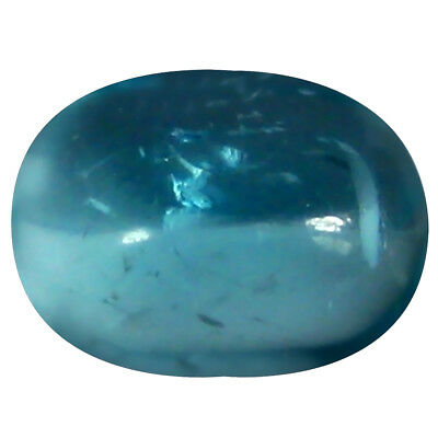 1.14 ct AAA Oval Cabochon Shape (7 x 5 mm) Brazilian Paraiba Blue Apatite