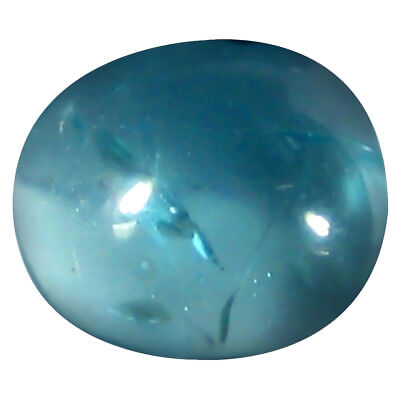 0.84 ct AAA Oval Cabochon Shape (6 x 5 mm) Brazilian Paraiba Blue Apatite