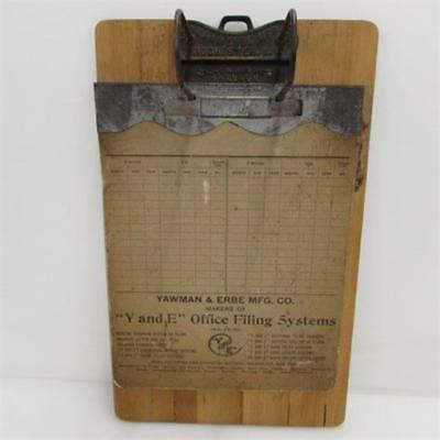 Antique Yawman & Erbe Manufacturing Company Y & E Office Filing System Clipboard