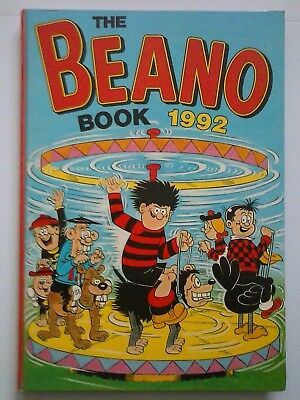 THE BEANO BOOK 1992 ANNUAL -  (UNCLIPPED) - Very Good Condition -