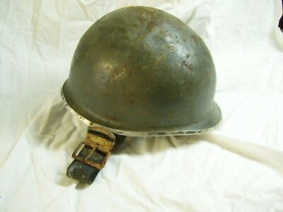 Helm Stahlhelm Wehrmacht M1 US Army WW2, front seam, original, fixed bail helmet