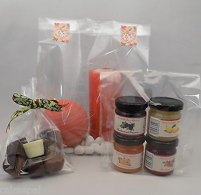 Clear Cello with side Gusset Sweet Treats Display Gift Cake Party Bags