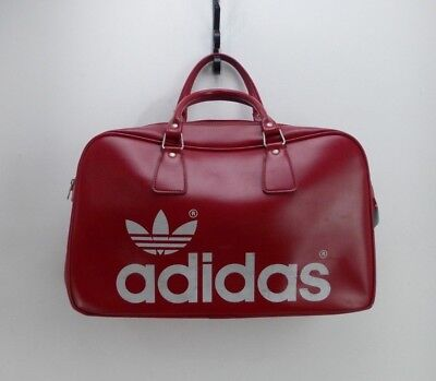 56ed8fbc4a23 Vintage Peter Black Adidas Red Sports Bag holdall 1970 s Mod Northern Soul