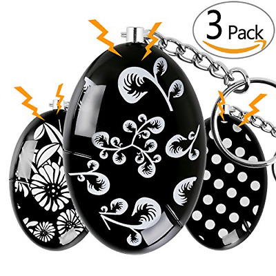 Personal Alarm 3 PACK Emergency Alarm Keychain Safe Sound Safety Security Device