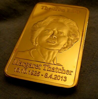 Margaret Thatcher 24Kt Gold Bar Prime Minister of United Kingdom London Royal UK