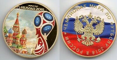 World Cup Russia 2018 Gold Coin Kremlin Gem MEMORABILIA Rare Messi Ronaldo Spain