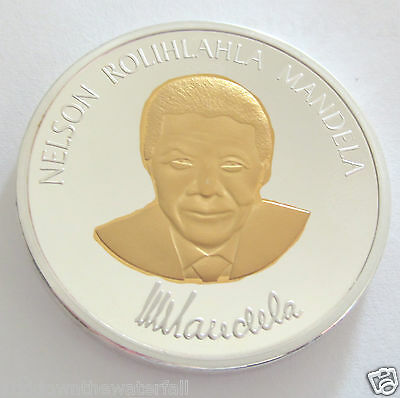 Nelson Mandela Gold & Silver Coin South Africa World Famous Leader Great Man RSA