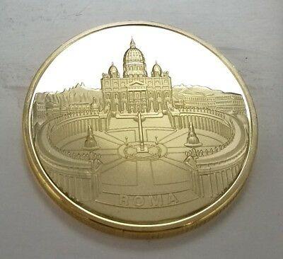 Pope John Paul Gold Coin Vatican Rome Jesus Christ Religion Church Italy Prayer