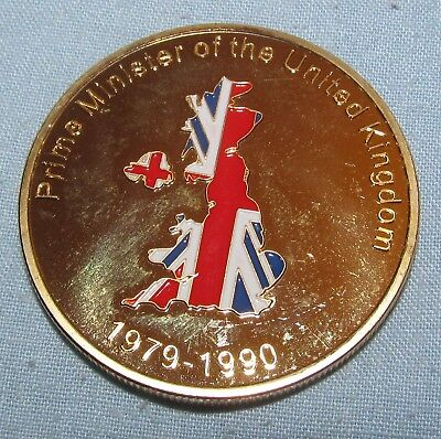 Margaret Thatcher Gold Coin British Leader Political Conservative Party Old UK