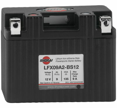 "Lithium Ion MC/ATV Battery - 12V 135CCA Sho. LFX09A2-BS12 4.45"" X 2.28"" X 3.50"""