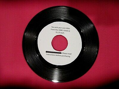 "Original Rock Soul Pop 45 rpm's from 50s to 80s - 1.25 each - ""A to F"""