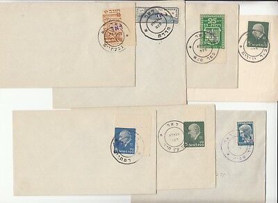 Israel 1948 interim collection  x17 covers all different postmarks