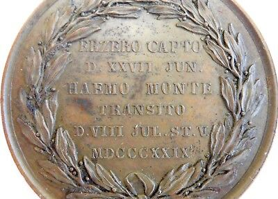 RUSSIAN TURKISH WAR 1828 Medallion,NICOLAS,Capture Armenian Karin,ERZURUM,Authen