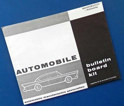 1957 AUTOMOBILE BULLETIN BOARD KIT for office/classroom—Auto Manufacturers Ass'n