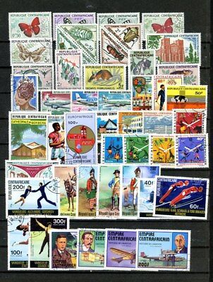 Central Africa Rep. outstanding selection of 47 stamps - Nice group