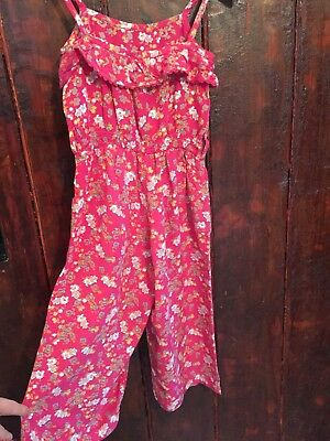 Girls Floral Jumpsuit Monsoon Size 3-4 Years