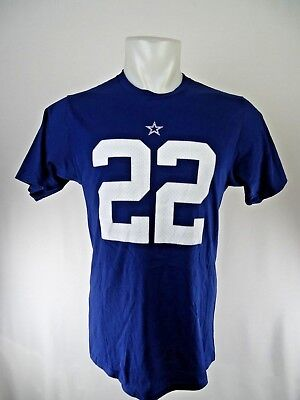 94eeafb3d Dallas Cowboys Men s Navy Blue E. Smith  22 Player Short Sleeve T-shirt