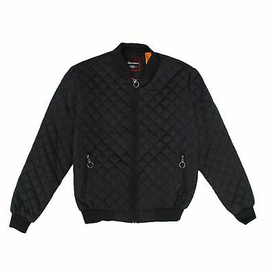 Maximos NEW Mens Black Water Resistant Quilted Jason O-Ring Bomber Jacket